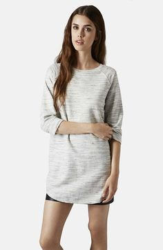 Free shipping and returns on Topshop Space Dye Tunic at Nordstrom.com. Space-dyed cotton-blend jersey enhances the easygoing, sporty appeal of this relaxed three-quarter-sleeve tunic.