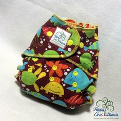 Sea Creatures One Size Windpro Hybrid Fitted Cloth Diaper with Bamboo Lining by HippyChicDiapers on Etsy https://www.etsy.com/listing/231063705/sea-creatures-one-size-windpro-hybrid