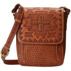 American West - Apache Crossbody Flap Bag (Golden Tan) Cross Body Handbags