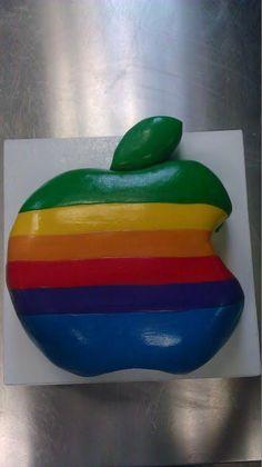 Apple Macintosh logo cake for a birthday