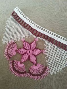 This Pin was discovered by Nec Needle Tatting, Needle Lace, Bobbin Lace, Bead Crochet, Crochet Lace, Crochet Hooks, Embroidery Techniques, Embroidery Stitches, Crochet Unique