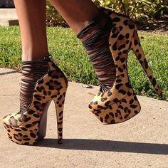 Animal Print Heels.