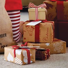 Recycled Brown Christmas #Gift #Wrap