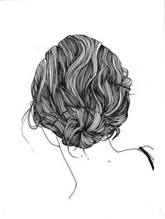 great texture in this hair drawing.