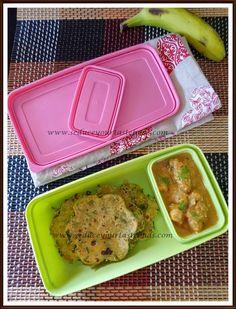 Kids Lunch Box Series Kids Lunch Box Series # 3 | Methi Vegetable and Cheese Paratha, Channa masala, Fruit May 20, 2016
