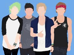 HUGE 5sos Poster... Digitally printed on Professional High Quality Matte Poster Paper (23.66 x 33.35 inches / 60.1 x 84.7 cm) - ashton | ashton irwin | print | poster | 5sos | 5 seconds of summer | merchandise | 5sosmerch | minimalist | Calum hood | luke hemmings | Michael Clifford | 5sosfam | don't stop | she looks so perfect | etsy | brand | band | love | funny |