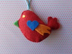 Dancing Day Bird Ornament by Pepperland on Etsy, $6.00