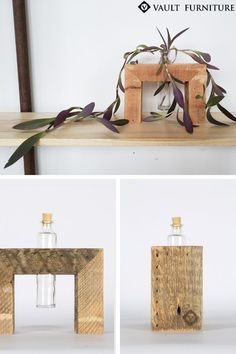 BEST SELLING Rustic Home Décor. Handmade in USA. Crafted from century old salvaged reclaimed Pine. Includes removable 4oz glass bottle.It's the perfect addition for any modern farmhouse, minimalist, rustic, boho chic or industrial home. Small enough to fit in any space, the stands are extremely versatile and can be used to display fresh flowers, air plants, fresh herbs, dried flowers, spices, candle, make-up brushes or even for plant propagation and air plants. SHOP NOW. Decor, Wood Vase, Boho Living Room, Home Decor, Reclaimed Pine, Rustic Home Decor, Hanging Vases, Rustic House, Vases Decor