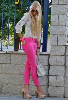 Jeans de color para la primavera de 2014