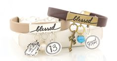 {Blessed} Charmed ID Bracelets by Initial Outfitters   Spring 2015 Collection