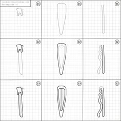 How to draw a hair pins.