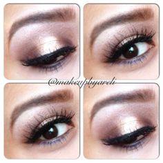 Bronze CatEye by @Makeupbyareli in Motives Eye Shadow(Intelligent) and Noir Eyeliner!   #Eyes #Black #Bronze