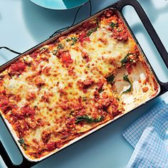 Lean Lasagna | MyRecipes.com Our favorite recipe from the Cooking Light column, this lightened-up lasagna tastes every bit as flavorful as the traditional version.