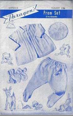 Pram Sets, 4 Ply Yarn, Baby Prams, Vintage Knitting, Baby Knitting Patterns, Baby Strollers