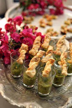 bikierini cheese straws & guacamole