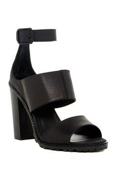 4a1d6294540 Liza Triple Strap Chunky Sandal by Kelsi Dagger on  nordstrom rack Black High  Heel Sandals