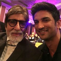 Two talented actors Amitabh Ji with Sushant Singh Rajput. Amitabh Bachchan, Sushant Singh, Bollywood, In This Moment, Selfie, Actors, Instagram Posts, Stay Fit, Hearts