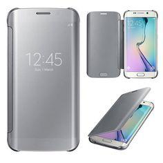 Samsung Galaxy S6 Edge genomskinlig flipfodral