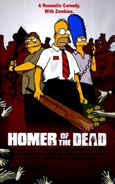 Homer, Marge, Barnie - Simpsons - Homer of the Dead by Claudia-R