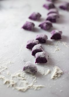 Purple Sweet Potato Ricotta Gnocchi   http://www.gingerandtoastedsesame.com/purple-sweet-potato-ricotta-gnocchi/
