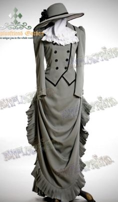 Grey Victorian Dress Suit reproduction