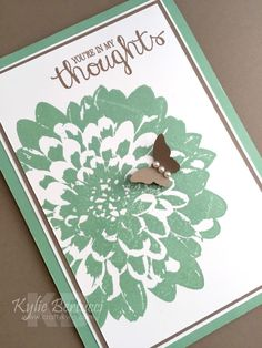 Kylie Bertucci - Definitely Dahlia, Best Thoughts, Bitty Butterfly Punch #getwellsooncard #stampinup #definitelydahlia #bestthoughts #bittybutterflypunch