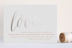 Charming Love Foil-Pressed Save The Date Cards