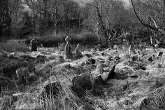 A landscape view of the old graveyard that I re-discovered near Castletownshend in West Cork, Ireland. Cemetery Headstones, Old Cemeteries, Cemetery Art, Graveyards, Haunted Dollhouse, Haunted Mansion, Paranormal Pictures, Memorial Stones, Architecture Old