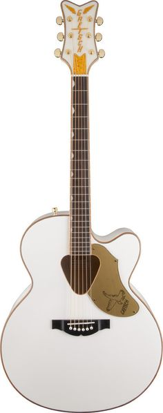 G5022CWFE White Falcon Rancher Falcon Jumbo Acoustic Electric Guitar