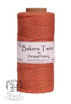 Cotton Bakers Twine - Pinata - Brown   Coral (2x2 Ply) 4bfebaa261