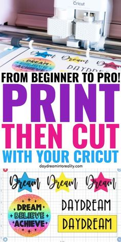 Today you are going to learn – whether you have Maker or Explore – how to Print and Cut images with your Cricut. To cut printables, stickers, and other types of images you need to use the Print then Cut setting. Cricut Vinyl, Vinyle Cricut, Cricut Air 2, Cricut Help, Cricut Craft Room, Cricut Explore Projects, Vinyl Projects, Vinyl Crafts, Craft Projects