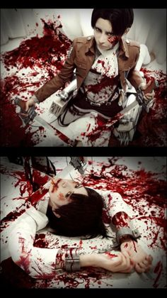 Eren and levi cosplay~ Yeah..... this cosplay is amazing