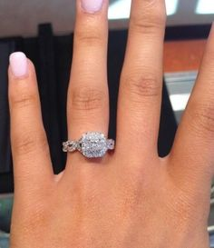 Oh holy Moses. This ring is absolutely perfect in every way.  Vera Wang engagement ring