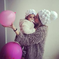 #mulpix She and the Baby 🌷🍂🌨  #handmade  #fashion  #Knit  #knitwear  #beanie  #fluffy  #soft  #merino  #wool  #minime  #madewithlove  #fashionista  #baby  #white  #winter  #season  #collection  #pompom  #hat  #knitting  #fun  #cozy  #chunky  #shop  #instashop  #mumshandmade