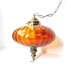 Vintage Hanging Swag Lamp by TheVintageResource