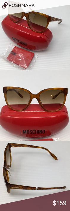 New Moschino Brown/Gold Sunglasses New without tag, authenticity guaranteed, includes case and cleaning cloth.   Style MO779S02 Size 56-19-140 Moschino Accessories Sunglasses