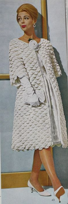 Mad Men Vintage PDF CROCHET PATTERN Womens Stylish Swing Coat 1960s. $4.00, via Etsy.