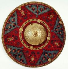 Kalkan shield of Stefan Czarniecki by Anonymous from Turkey, century, Muzeum Czartoryskich Persian Shield, Arm Armor, 14th Century, Art And Architecture, Metal, Weapons, Medieval, Antiques, Swords