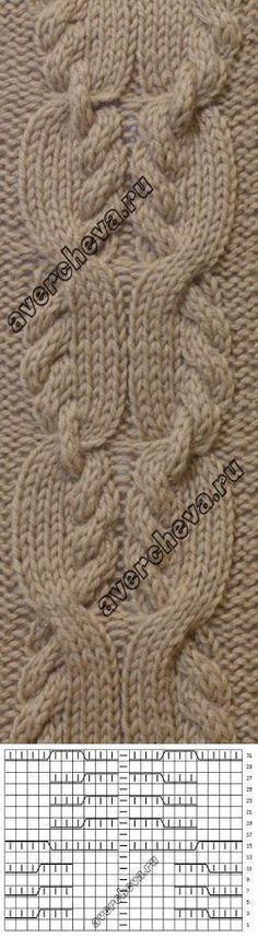Ideas For Crochet Braids Pattern Charts Knitting Stiches, Cable Knitting, Knitting Charts, Knitting Patterns Free, Knit Patterns, Crochet Stitches, Hand Knitting, Stitch Patterns, Knit Crochet