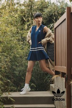 Spring was made for carefree comfort. Simple silhouettes give nostalgic cuts a modern spin. Adidas Dress, Tennis Dress, Blue Adidas, Retro Fashion, Adidas Originals, Blue Dresses, Cool Stuff, Inspiration, Shopping