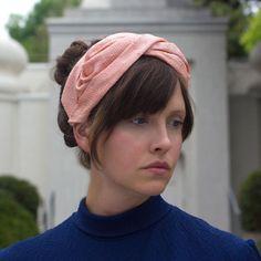 Peach Coral Turban Headband