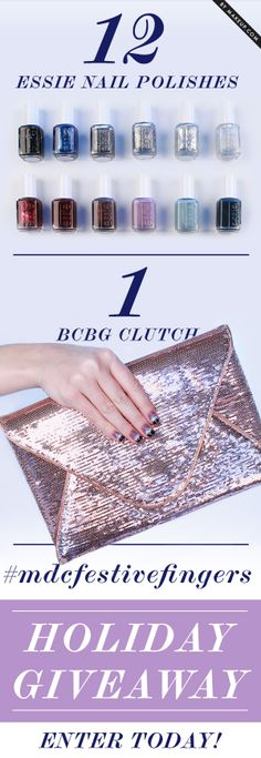 essie nail polish and BCBG clutch giveaway! // click pin for info on how to enter!