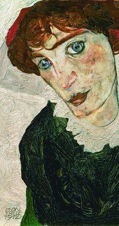 Egon Schiele - Portrait of Wally Neuzil (detail), 1912