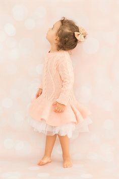 Pudra Kız Çocuk Elbise Triko Tütü Px229192