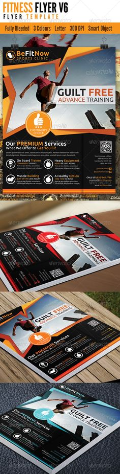 #Fitness #Flyer V6 - Flyers Print #Templates Download here: https://graphicriver.net/item/fitness-flyer-v6/4629423?ref=alena994