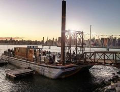 Drinks on the Water?  Brooklyn's Barge Bar is the perfect spot.
