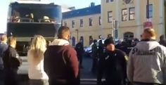 """VIDEO: IRATE GERMANS ATTEMPT TO BLOCK BUSES FULL OF MIGRANTS Citizens chant """"you are ruining our country"""" as police force them back"""