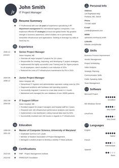 Resume Templates It #resume #ResumeTemplates #templates