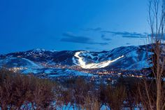 Deer Valley Resort, Park City Mountain -- Night Skiing at it's finest!