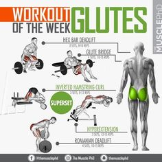 "❓When is the last time you trained your glutes?- If you're a newbie to glute workouts, you may not know how to activate your glutes. There's a right way and a wrong way to build your butt. Here's how to develop the perfect glute-ham tie-in. Glutes Training tip: ""Keep the body pitched forwards from the hips. The result: Amazing butt-toning results! This routine is the perfect finisher to add to your current butt workout.When you work these muscles, it will lift your buttocks"